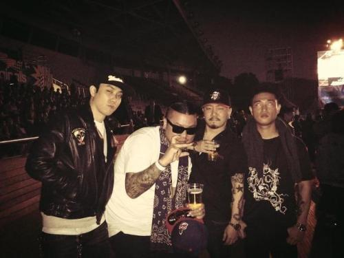 came0lee:  Eun ji won, Juvie train, Tyfoon & Gary of Leessang