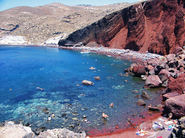 nikolawashere:  Red Beach, Greece.