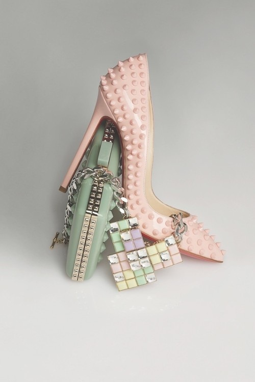Fashion Trend: Sweet Sweet Pastels.  Accessories composition