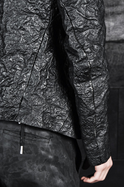 skt4ng:  Boris Bidjan Saberi – Double Zip Up Acid Sprayed Leather Jacket