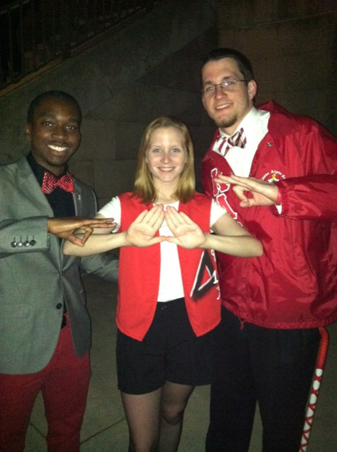 Crimson & Cream is taking over the campus. #KappaAlphaPsi #DeltaSigmaTheta