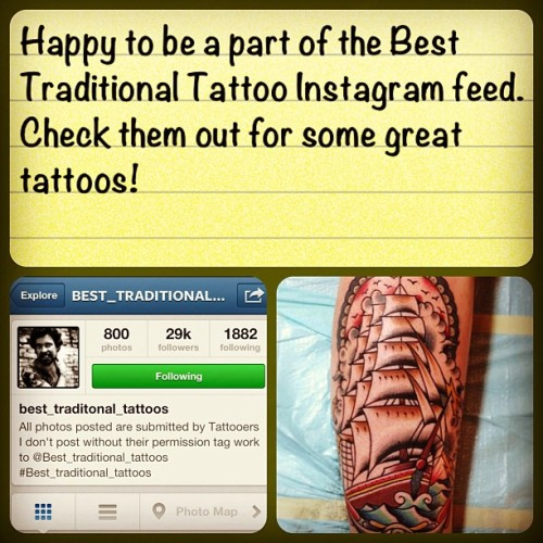 Check out @best_traditional_tattoos for some great traditional tattooers around the world.