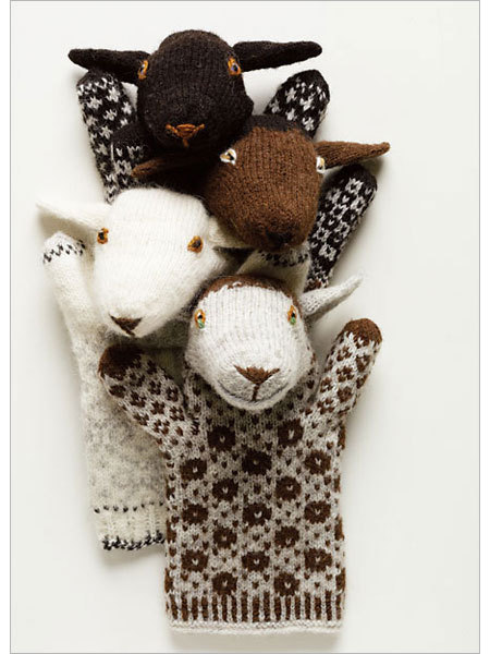 konfetti:  Estonian Sheep Puppets - Interweave