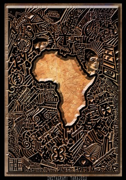 143human:  RandomAfricanMemories by Johnny Tarajosu All 52 countries are hidden within. This is an experimental art piece and not the print that will be available soon.