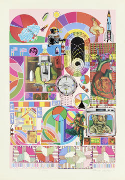 Sir Eduardo Paolozzi - B.A.S.H (Pale Pink & Orange)