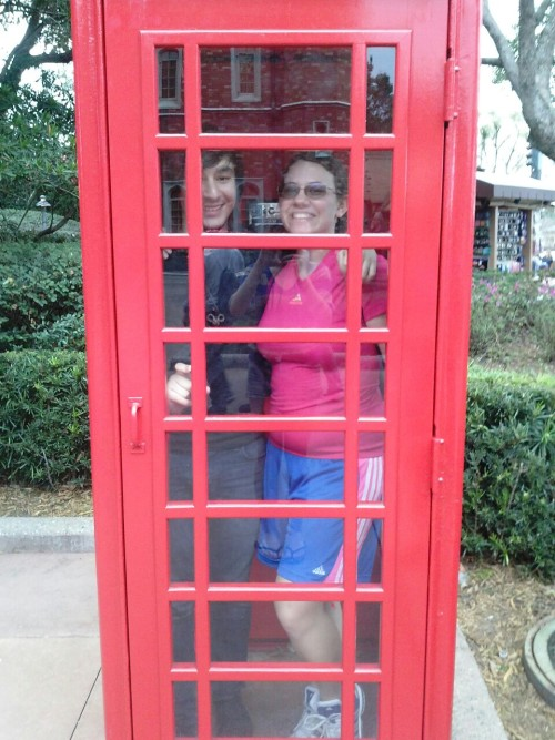Jason loved me enough to take a phone booth picture with me. (: