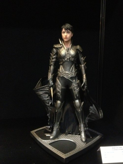 "…And here's DC Comics baddie Faora from ""Man Of Steel"" at Toy Fair!"