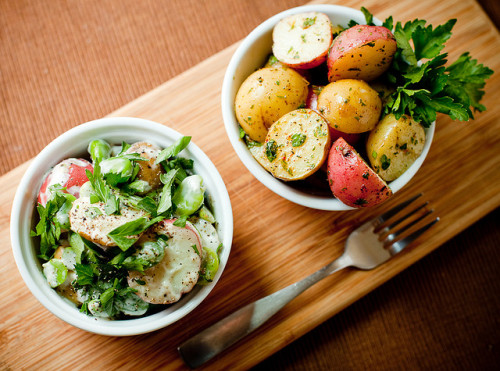 fysaladporn:  Potato Salad, two ways by teenytinyturkey on Flickr.