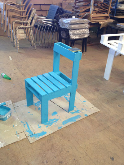 Like DIY? Like arts and crafts? Got a hammer? MAKE A CHAIR MAKE A CHAIR MAKE YOUR VERY OWN CHAIR. Also, you get to upcycle wooden pallets, so ALL THE WIN