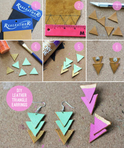 fuckyeahcraft:  DIY earring tutorial found on BuzzFeed.