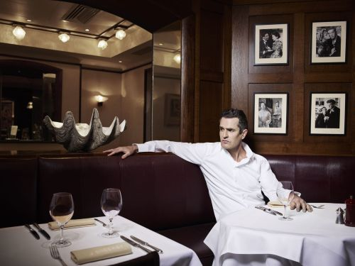 Rupert Everett has long been a martyr to his passions, but lately he's had something else on his mind. Victoria Coren, a lifelong fan, joins him for dinner to talk about his excoriating memoirs, his portrayal of Oscar Wilde and his urge to be a serious man Photograph: Hamish Brown for the Observer
