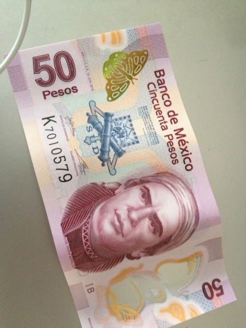 The new mexican 50 bucks….. NICE!!!