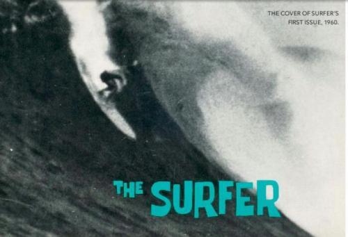 The 1960 cover of the first issue of Surfer Magazine.