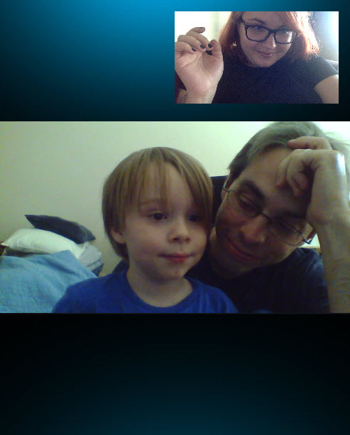 despite being sick, work hubby and ethan wanted to tell me all about spider-dog. they made me smile.