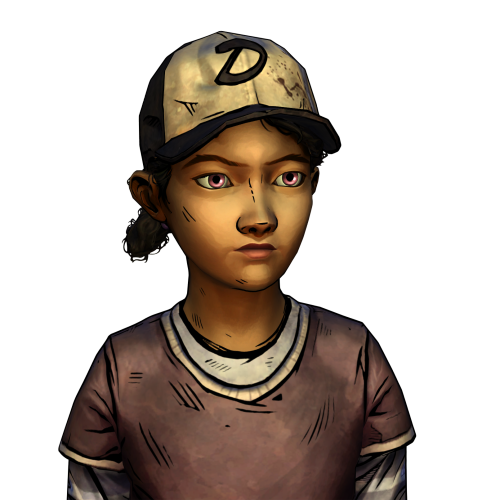 thewalkingmockup:  I woke up today and have no idea why I did what I did yesterday. But a transparent of a pink-eyed Clem came out of it. So have a pink-eyed Clem transparent, I guess. Hi-res