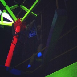 #climbing #ropes #fun #neon #blacklight