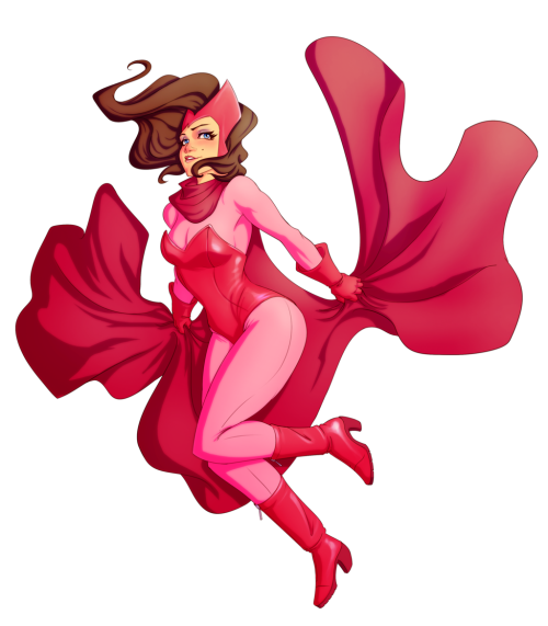 mostflogged:  lulubonanza:  Scarlet Witch Pin Up by *Kanish  CUTIE WANDA