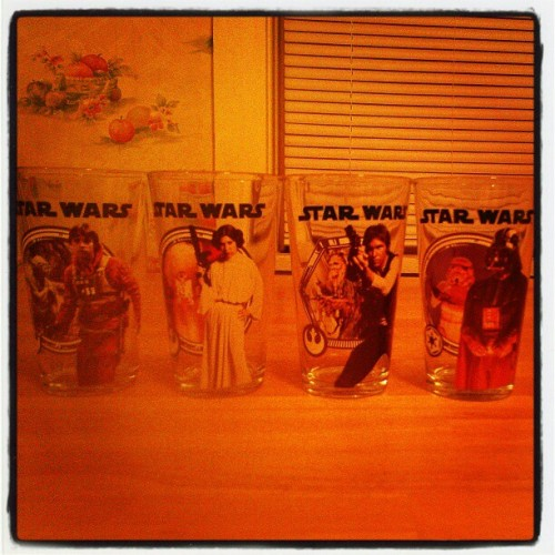 One of my favorite sets! #skywalker #starwars #beer #instadrunk #instabooze #beautiful #glass #chewbacca #darthvader