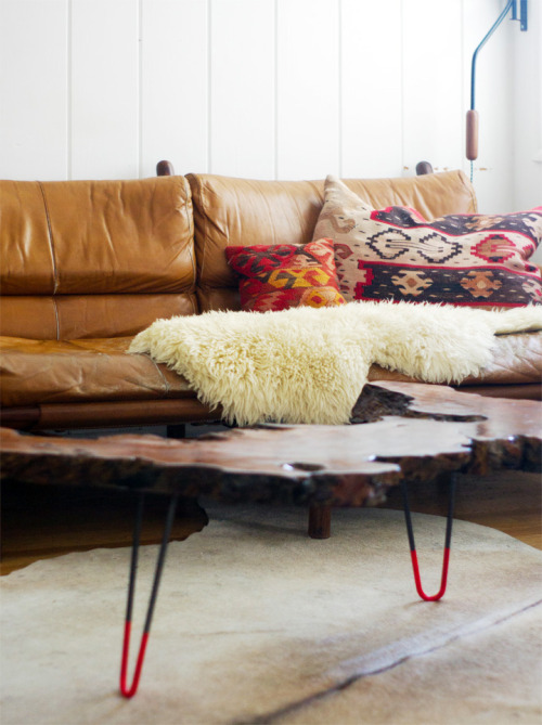 (via Brick House) Burl wood table