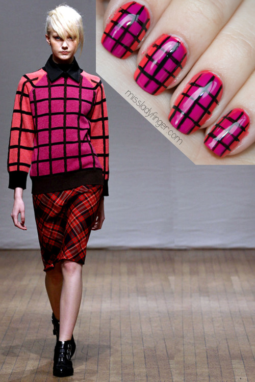 MANICURE MUSE: Clements Ribeiro Fall '13 Clashing separates for Fall? Yes, please. Get the Ladyfinger here.