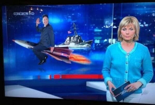 patrickandtheuniverse:  German news taking North Korea very seriously.  omg rtl what are you doing!?