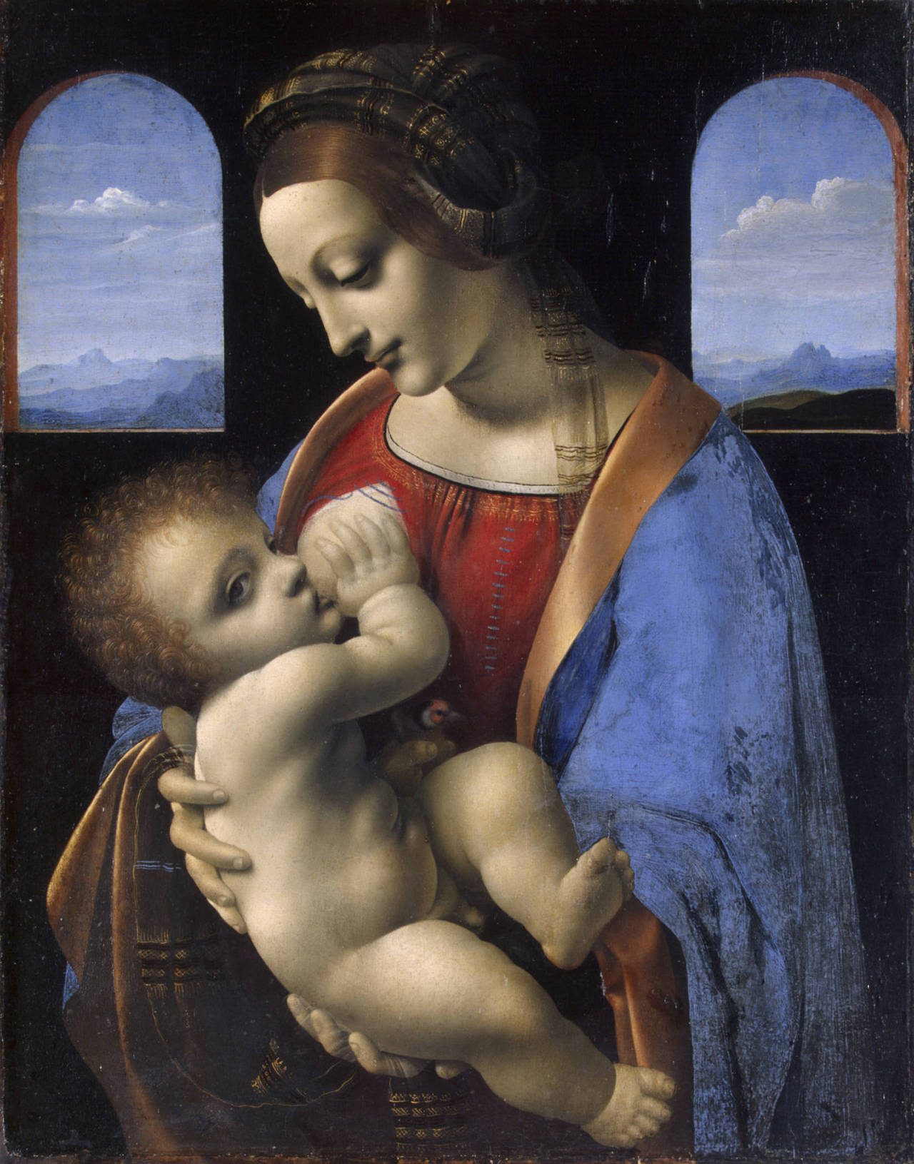 Madonna And Child (Madonna Litta) By Leonardo Da Vinci, Circa 1491-1495