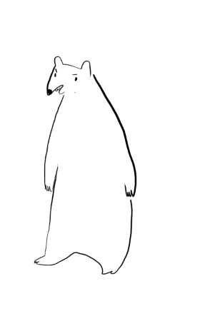 gingerhaze:  bonus, this was the first bear I drew hahahahahaha