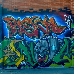 REKN, ANEMAL - Oakland, CA (see the whole photo at www.EndlessCanvas.com) #anemal #rekn #pi #graffiti #piProduction #permissionWalls #eastBayGraffiti