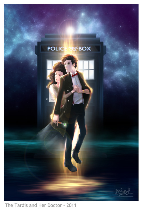 DW: The Tardis and her Doctor by ~OrneryJen