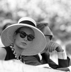 indypendentroyalty:  Princess Grace and Prince Rainier watching the Olympics in Rome, 1960. (via Natasha Bailie Vintage Clothing Company Blog: April 2012)