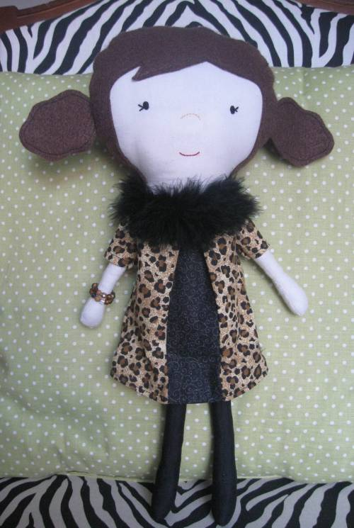 A rag doll I made for my fashionable, dear friend Theresa