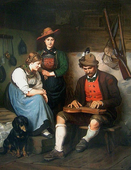 Franz von Defregger The Zither Player 19th century