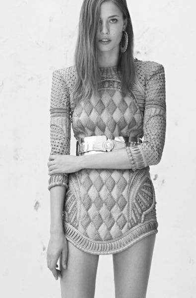 senyahearts:  Balmain Resort 2013  Model: Nadja Bender