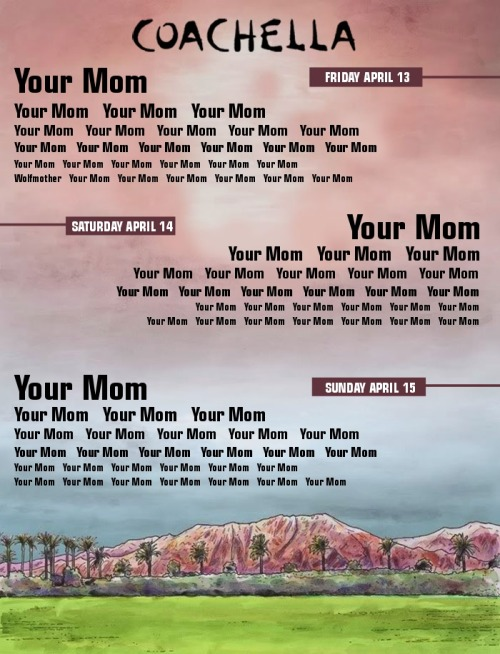 Rlly want to go to Coachella this year, you guys.