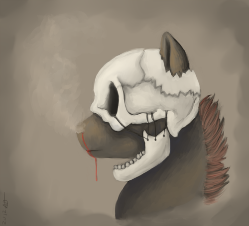 The skull of a loved one  lazy-art.tumblr.com