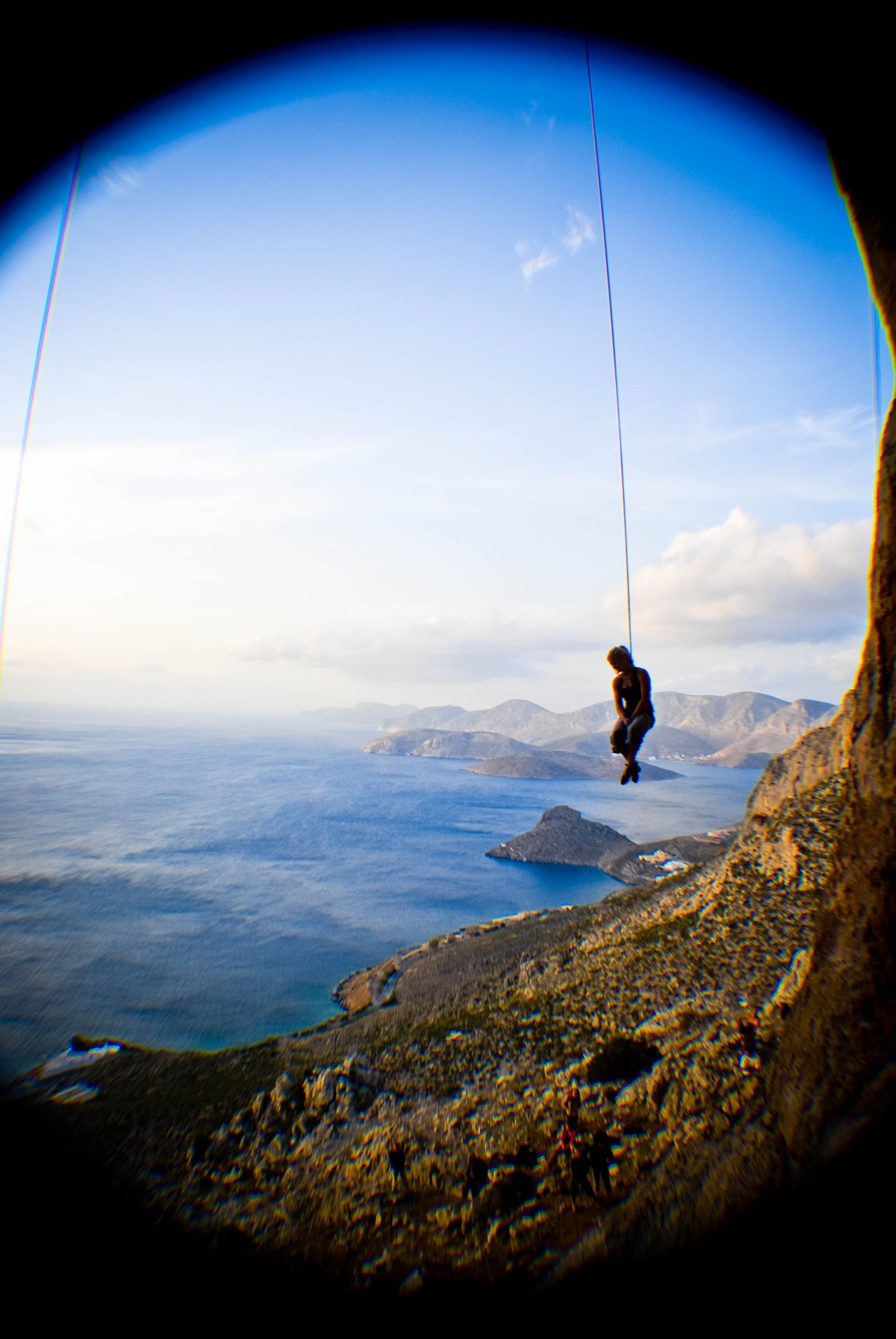 celestialsloth:  Shauna Coxsey hanging out in Kalymnos