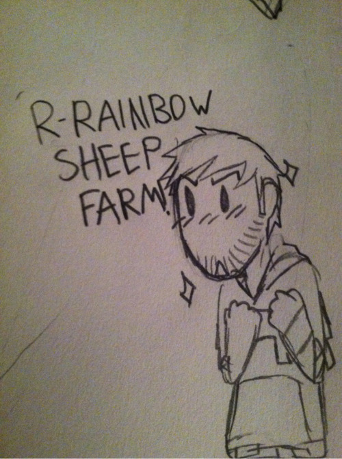 sherlockianhero:  I like how in every series, Ze always wants to make a Rainbow Sheep Farm and slowly has become my goal as well.