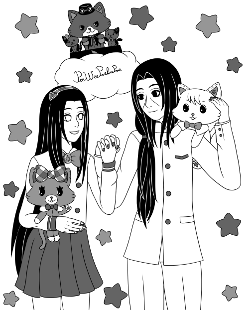 Okay so this one needs some explanation…I really didn't know what to do with this prompt, so my sister @datheetjoella  suggested I should draw Itachi and Neji as characters from one of the anime we watch together, Mewkledreamy (which is a kids show btw, but it's really cute  )So here we have Neji dressed up as Yume and Itachi dressed as Asahi, with their dreamymates Mew and Rei. The villains of the show are in the back, Yuni, Tsugi and Hagi! Btw, Neji is not a girl in this one, just crossdressing.Also, this will be the only picture in Inktober to use grey tones. Itachi and Neji © Masashi KishimotoMewkledreamy © Sanrio #itachi uchiha#neji hyuga#Neji Hyuuga#itachi#neji#itachineji#ItaNeji#Naruto Shippuden#naruto#shonen ai#dreams#mewkledreamy#sanrio#blackandwhite#boys love#fantober#fantober2020#inktober#inktober2020