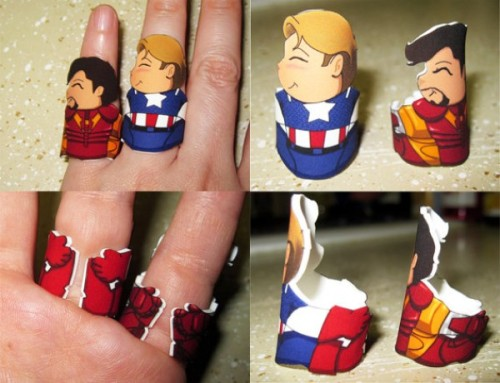 Hugable Avengers rings: Product Page