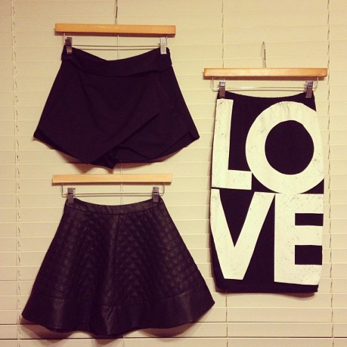 fashionpassionates:  Get the collection, get the love skirt here: LOVE SKIRT Shop FP | Fashion Passionates