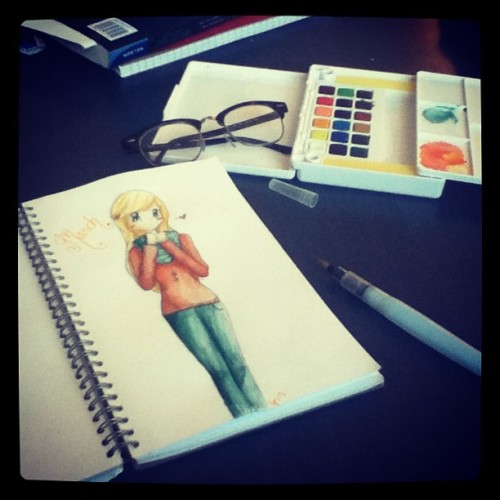 Painting out of boredom? Yup. #painting #art #watercolor #manga #animation #procrastination