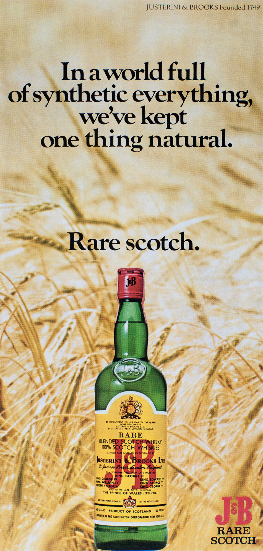 J&B Advertisement - Gourmet: April 1977