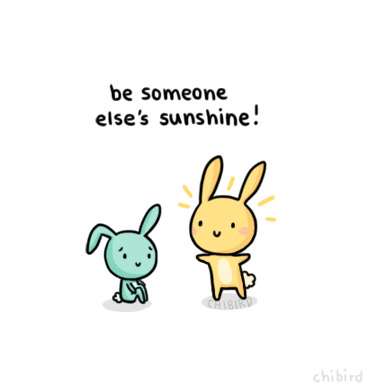 chibird:  Because I think we could all use a sunshine bunny in our lives. >u<  my sunshine is gone..