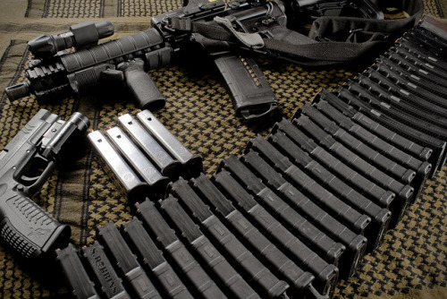 XDM, AR-15 and Mags by S.Dobbins on Flickr.