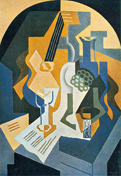 Juan Gris, Still Life with Fruit Dish and Mandolin, 1919