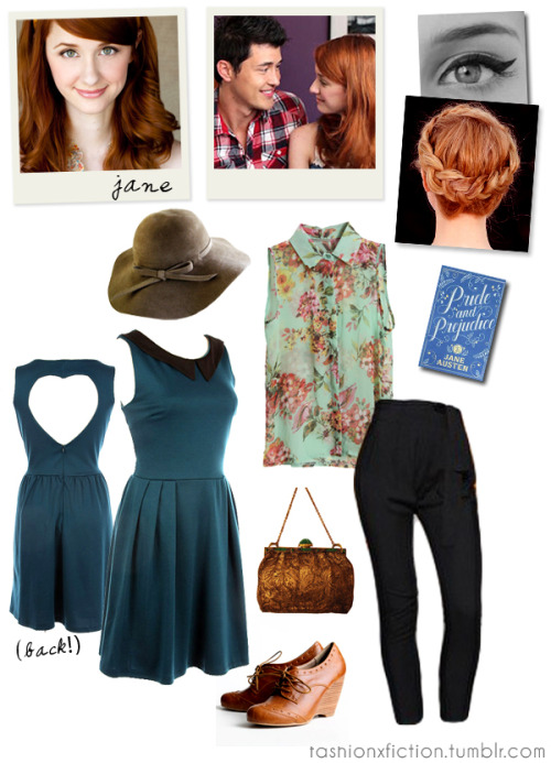 Fashion inspired by Jane Bennet from The Lizzie Bennet Diaries. The Lizzie Bennet Diaries is an American drama web series adapted from Jane Austen's Pride and Prejudice where the story is conveyed in the form of blogs. http://www.youtube.com/user/LizzieBennet