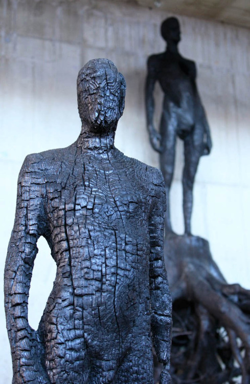 7while23:  Burned Wood - Sculpture collection by Aron Demetz