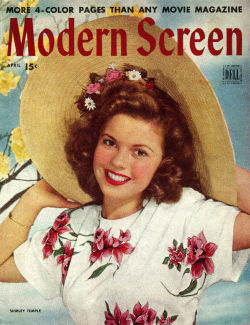 Modern Screen April 1945 / Shirley Temple