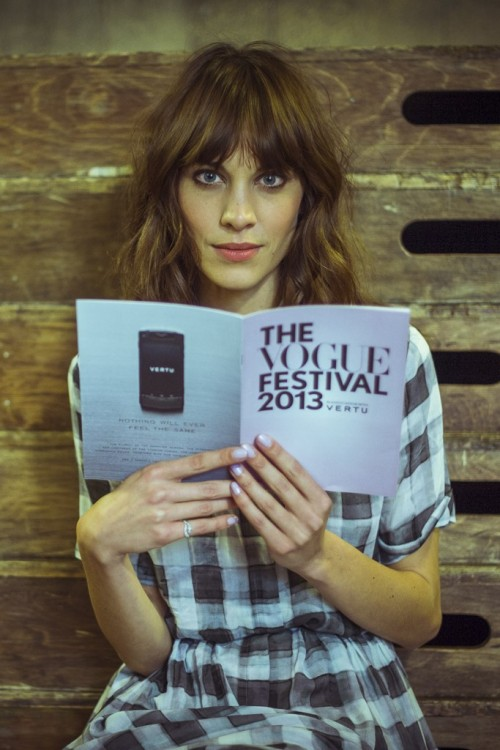 womensweardaily:  Alexa Chung at British Vogue's Fashion Festival Photo by Morgan O'Donovan