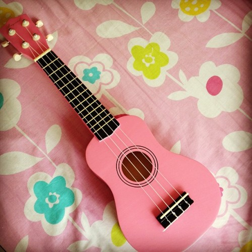 #my #pink #ukelele gonna start #learning #music #pinkukelele